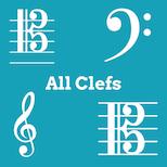 Treble, Bass, Alto, and Tenor Clef Notes Flashcards Quiz