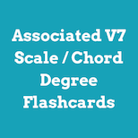 Associated V7 chord / scale degree flashcards