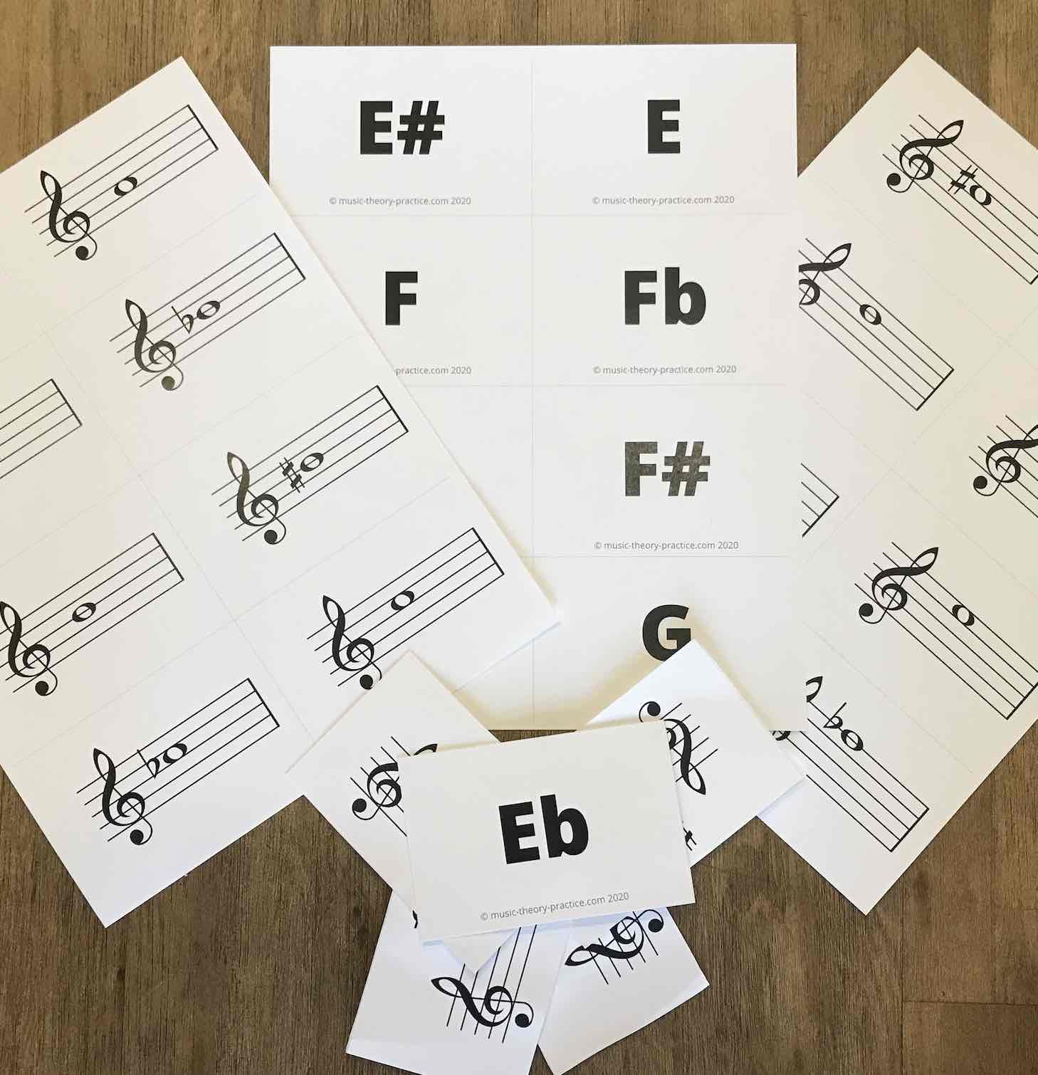 It's just a photo of Free Printable Music Flashcards for music staff